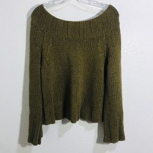 Free people sweater crop with bell sleeves